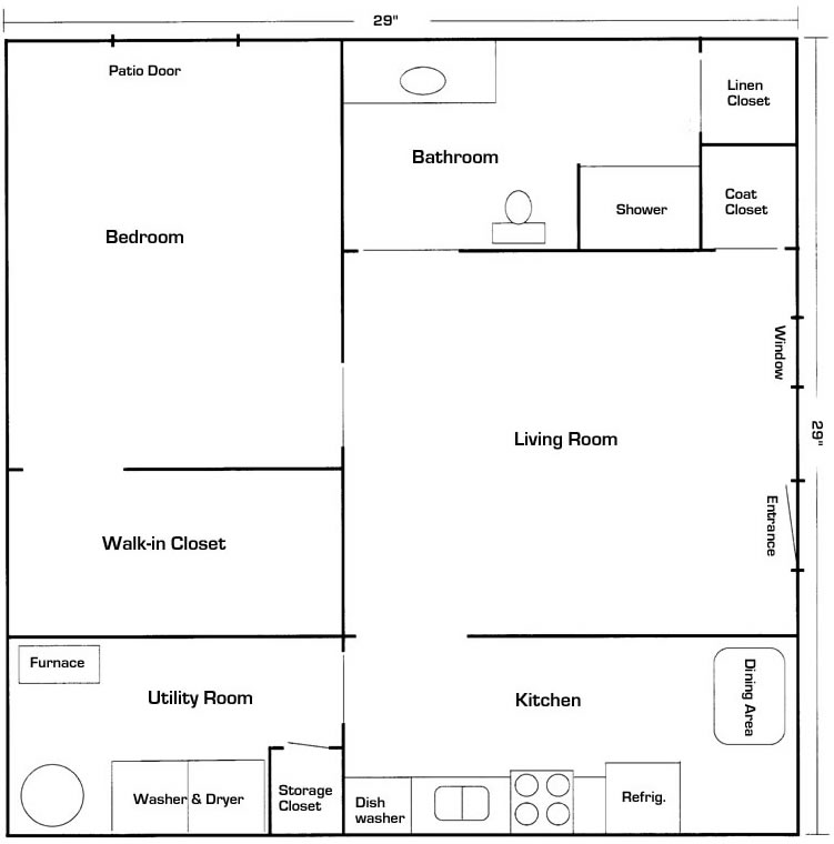 mother in law suite basement floor plan - Basement Design Ideas Plans