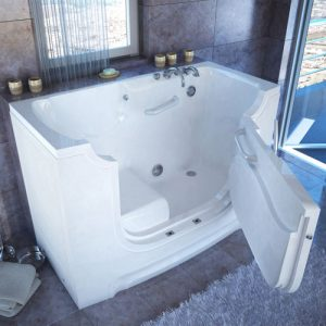Walk-in bathtub for elder home care